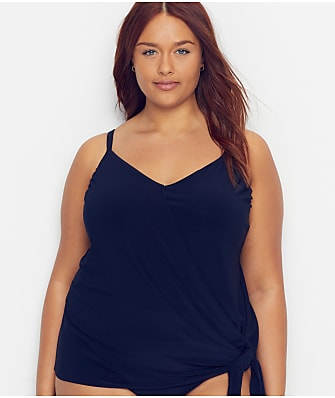 Magicsuit Plus Size Solid Alex Underwire Tankini Top