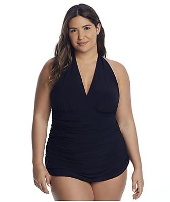 Magicsuit Plus Size Solids Yvonne Swim Dress