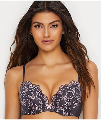 Maidenform Love The Lift Lace Plunge Push-Up & In Bra