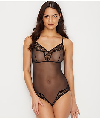 Maidenform Mesh & Lace Cheeky Bodysuit