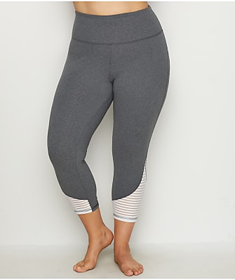 Marika Curves Plus Size Addison High Waist  Capri Leggings