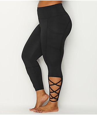 Marika Curves Plus Size High-Waist Laced Ankle Leggings