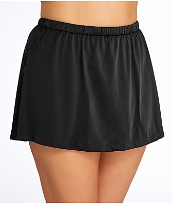 Maxine of Hollywood Plus Size Solid Skirted Bikini Bottom