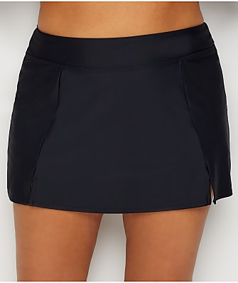 Maxine of Hollywood Plus Size Solids Skirted Bikini Bottom