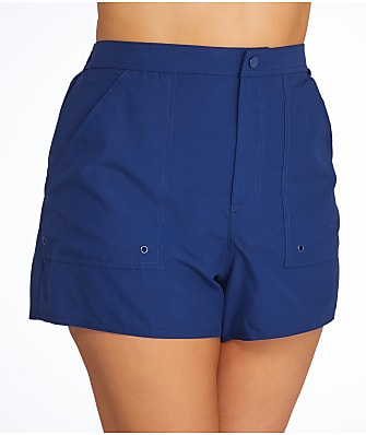 Maxine of Hollywood Solid Woven Boardshort Plus Size