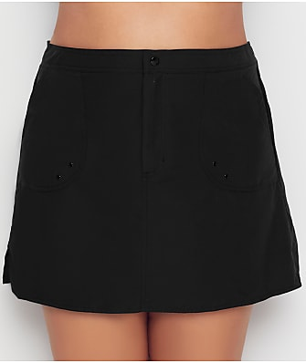 Maxine of Hollywood Plus Size Solid Woven Boardskirt