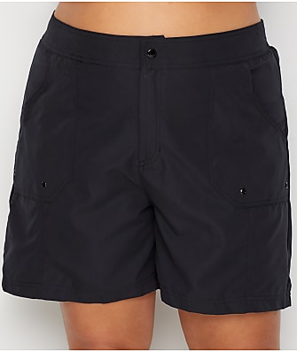 Maxine of Hollywood Plus SIze Solids Long Woven Boardshort
