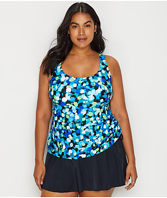 Maxine of Hollywood Plus Size Dots A Lot Swim Dress