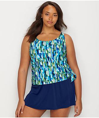 Maxine of Hollywood Plus Size Funfetti Swim Dress