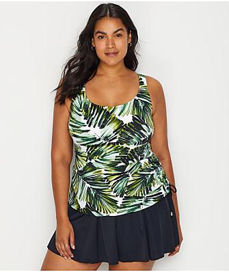 Maxine of Hollywood Plus Size Palmtastic Swim Dress