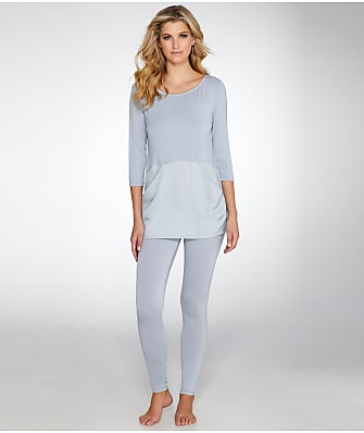 Midnight by Carole Hochman Long Knit Pajama Set