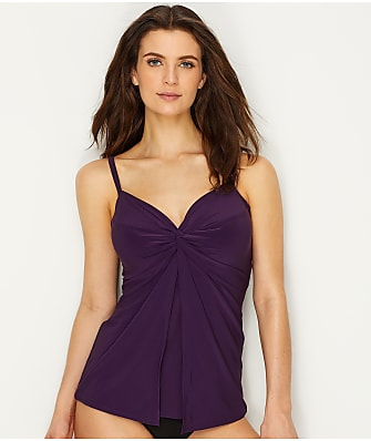 Miraclesuit Solid Love Knot Tankini Top
