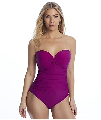 Miraclesuit Rock Solid Madrid Bandeau Underwire One-Piece