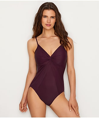 Miraclesuit Rock Solid Love Knot Underwire One-Piece DD-Cups