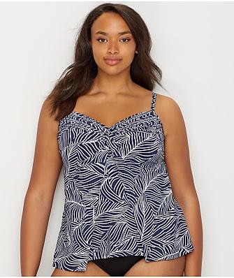 b4e6fdb0dd811 Miraclesuit Plus Size Lush Lanai Love Underwire Tankini Top
