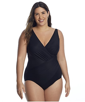 Miraclesuit Plus Size Wire-Free Oceanus One-Piece