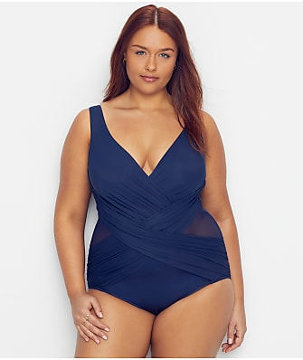 Miraclesuit Plus Size Solid Crossover One-Piece