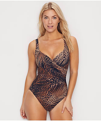 Miraclesuit Tigris It's A Wrap Underwire One-Piece