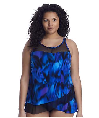 Miraclesuit Plus Size Nuage Bleu Mirage Tankini Top