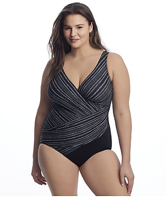 Miraclesuit Plus Size No Static Oceanus One-Piece