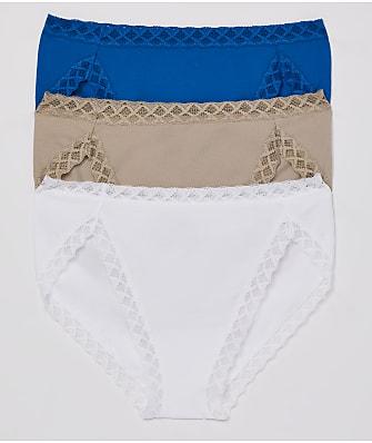 Natori Bliss Cotton French Cut 3-Pack