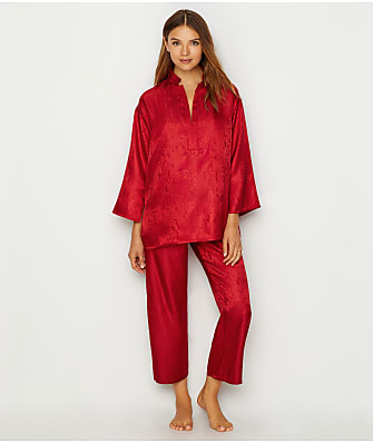 N Natori Animal Satin Jacquard Pajama Set