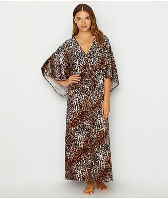 N Natori Lush Leopard Velour Caftan