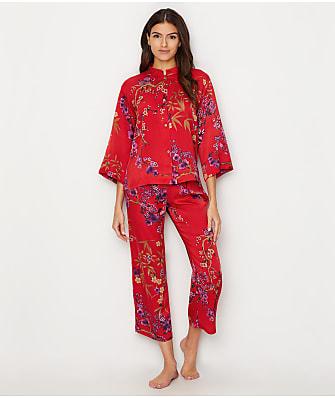 N Natori Eden Satin Mandarin Pajama Set