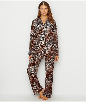 N Natori Lush Leopard Velour Pajama Set
