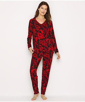 N Natori Fleur Dragon Cozy Knit Pajama Set