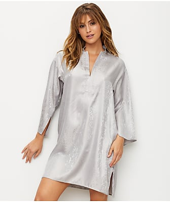 N Natori Animal Satin Jacquard Sleep Shirt
