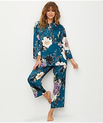 N Natori Floral Dynasty Satin Pajama Set