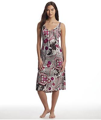 N Natori Obi Garden Satin Gown