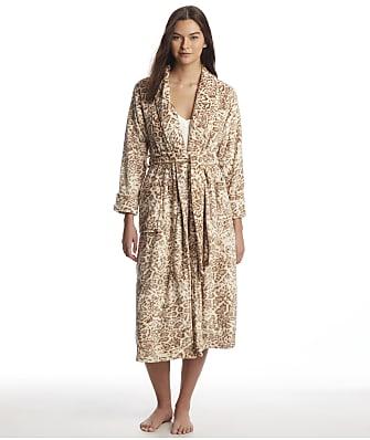 N Natori Cashmere Fleece Leopard Robe