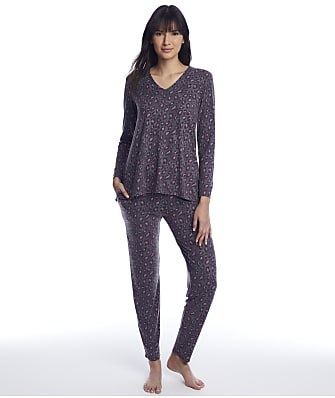 N Natori Wild Instincts Knit Pajama Set