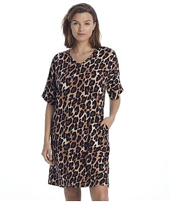 N Natori Ombre Leopard Trapeze Knit Sleep Shirt
