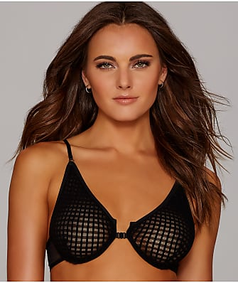 Only Hearts Windowpane Front-Close Demi Bra