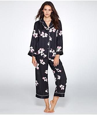 Oscar de la Renta Floral Print Woven Pajama Set