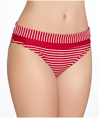 Panache Britt Stripe Fold-Over Bikini Bottom