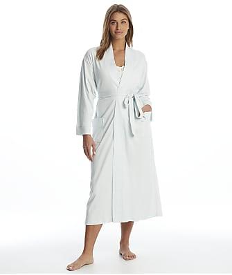 p.jamas Blue Butterknit Cotton Robe