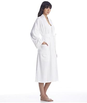 p.jamas White Butterknit Cotton Robe
