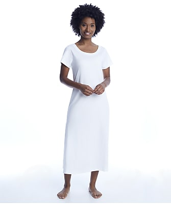p.jamas White Butterknit Nightgown