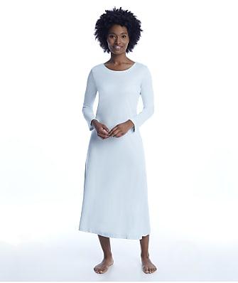 p.jamas Blue Butterknit Long Nightgown
