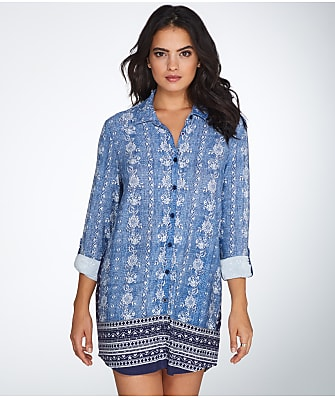 P.J. Salvage Denim Blues Knit Sleep Shirt