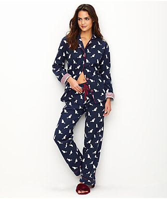 P.J. Salvage Cats Flannel Pajama Set