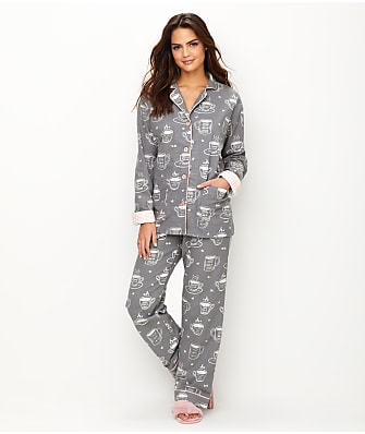 P.J. Salvage Coffee Time Flannel Pajama Set