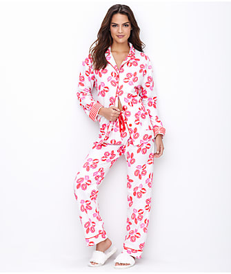 P.J. Salvage Lips Flannel Pajama Set
