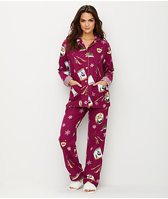 P.J. Salvage Ski School Flannel Pajama Set