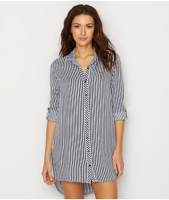 P.J. Salvage Simple Stripes Woven Sleep Shirt