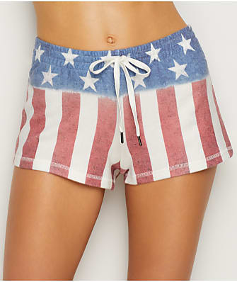 P.J. Salvage American Flag Knit Shorts